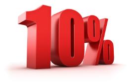 """Акция """"Скидка на обед 10%"""""""